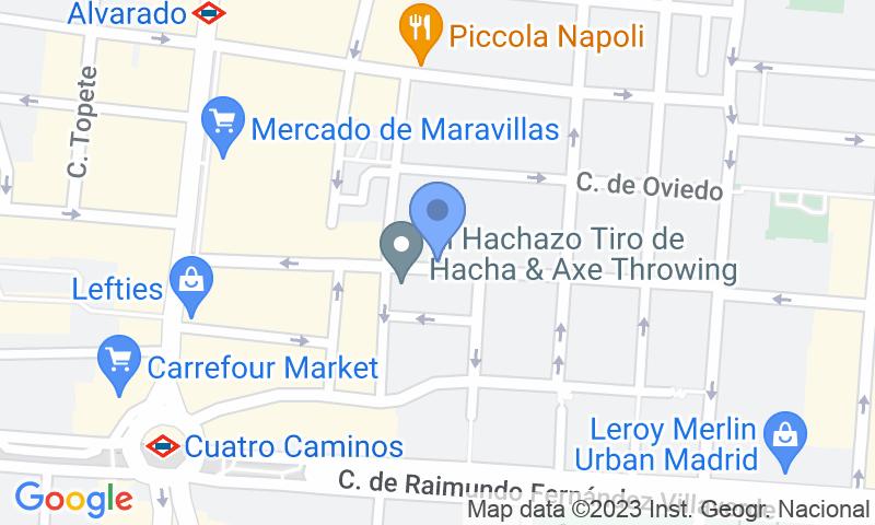 Emplacement du parking sur la carte - Réservez une place dans le parking Dávila - Turismos