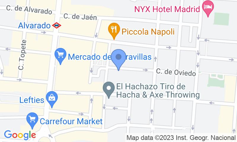 Localizzazione del parcheggio sulla mappa - Prenota un posto nel parcheggio Dávila - Vans y Furgonetas