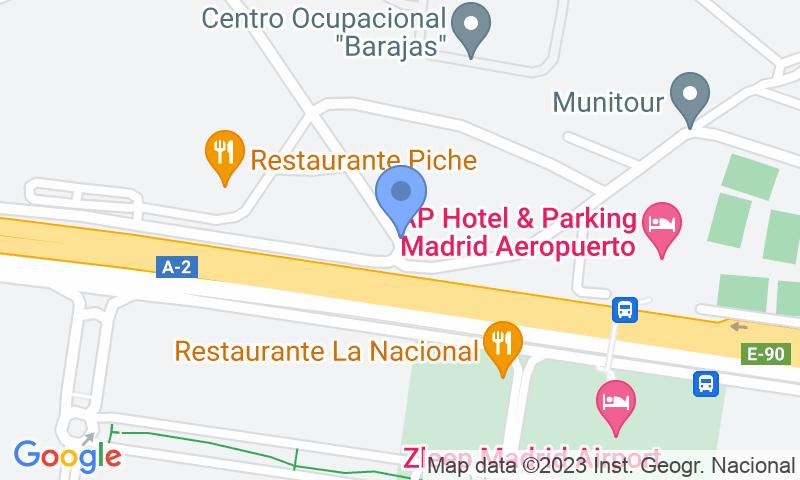 Localització del parking al mapa - Reservar una plaça al parking Barajas T1-T2