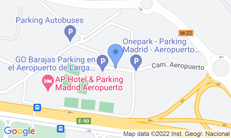Parking location in the map - Book a parking spot in Go Barajas Shuttle - Descubierto car park