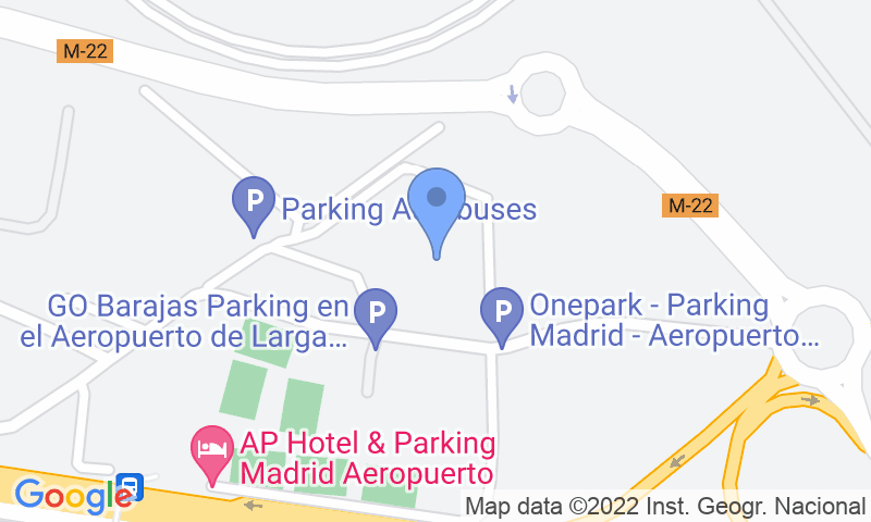 Parking location in the map - Book a parking spot in Naranja-Aeropuerto Barajas car park