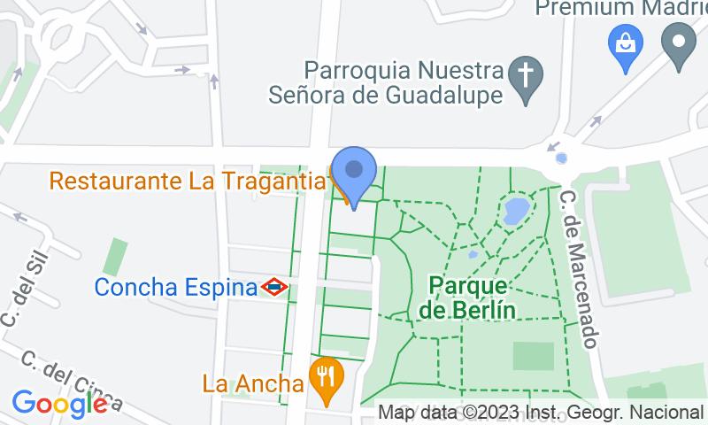 Расположение парковки на карте - Забронируйте паркоместо на стоянке Príncipe de Vergara 210