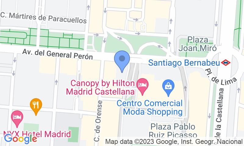 Localizzazione del parcheggio sulla mappa - Prenota un posto nel parcheggio Holiday Inn General Perón