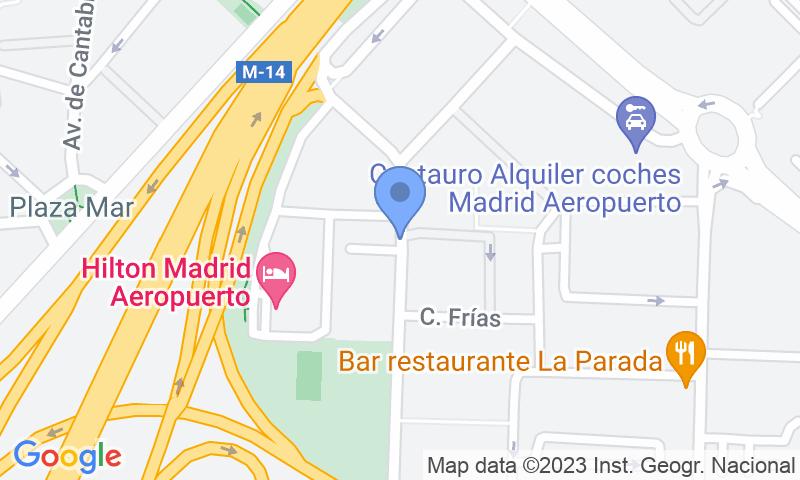 Localización del parking en el mapa - Reservar una plaza en el parking Parking del Aeropuerto