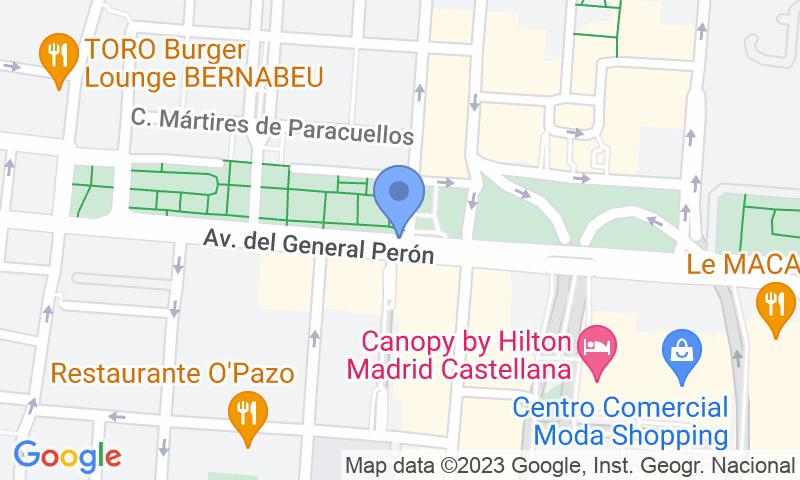 Localizzazione del parcheggio sulla mappa - Prenota un posto nel parcheggio Presidente Carmona - Perón Bernabéu