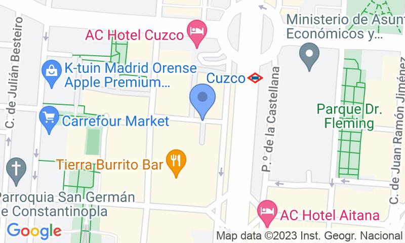 Localización del parking en el mapa - Reservar una plaza en el parking Aida