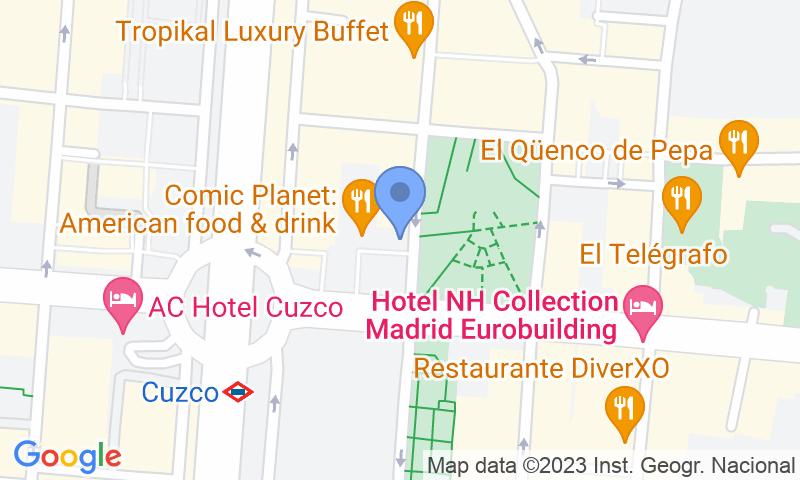 Localización del parking en el mapa - Reservar una plaza en el parking Fleming - Cuzco