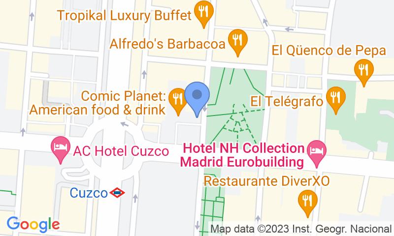 Localizzazione del parcheggio sulla mappa - Prenota un posto nel parcheggio Fleming - Cuzco r.