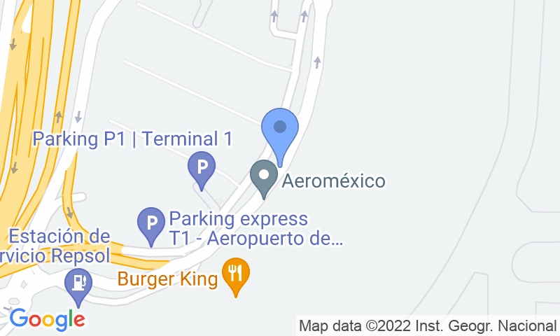 Parking location in the map - Book a parking spot in Park Sansecar - T1 Aeropuerto Barajas VALET Cubierto car park