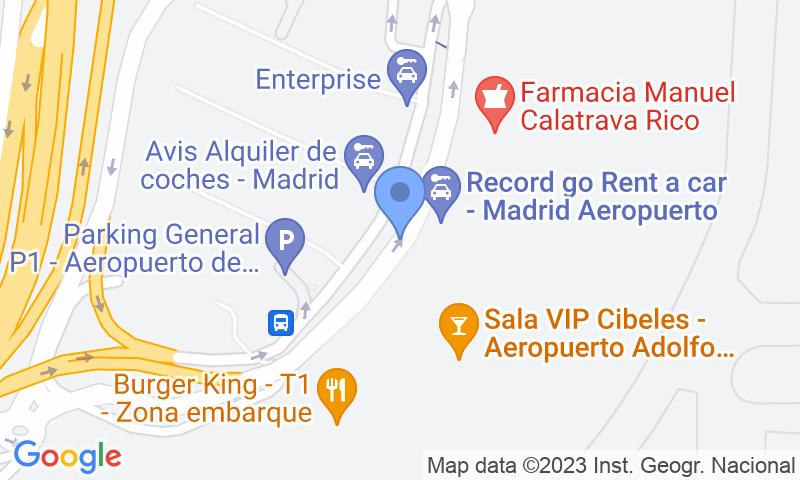 Lugar de estacionamento no mapa - Reserve uma vaga de  estacionamento no Park Sansecar - T1 Aeropuerto Barajas