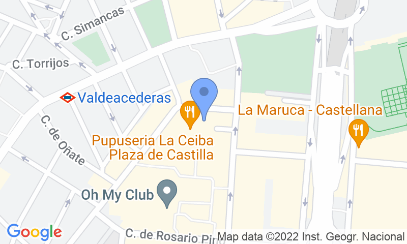 Emplacement du parking sur la carte - Réservez une place dans le parking José Castán Tobeñas