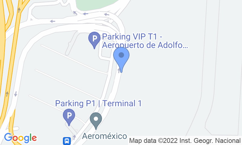 Parking location in the map - Book a parking spot in Drivercar-Valet-T1 Aeropuerto Barajas car park