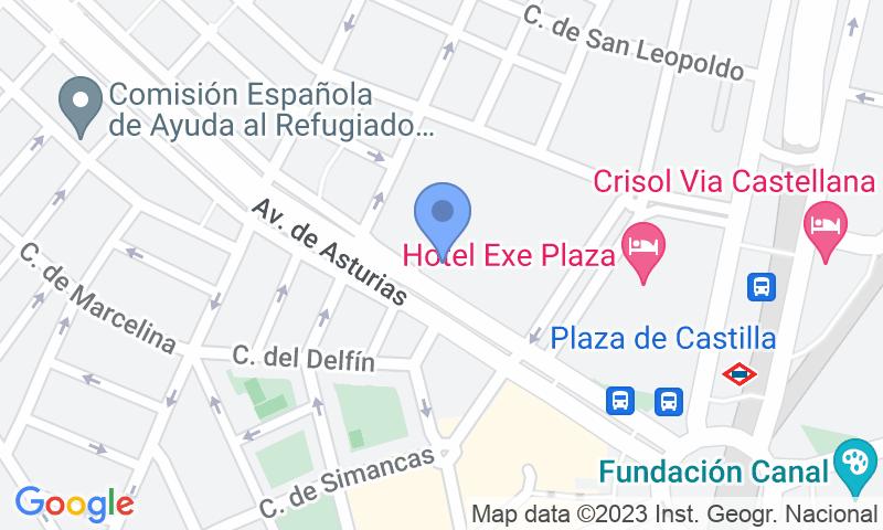 Localizzazione del parcheggio sulla mappa - Prenota un posto nel parcheggio Intercambiador Plaza Castilla