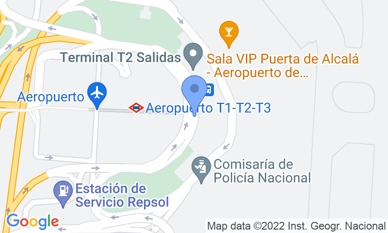 Parking location in the map - Book a parking spot in Park Sansecar - T2 Aeropuerto Barajas VALET Descubierto car park