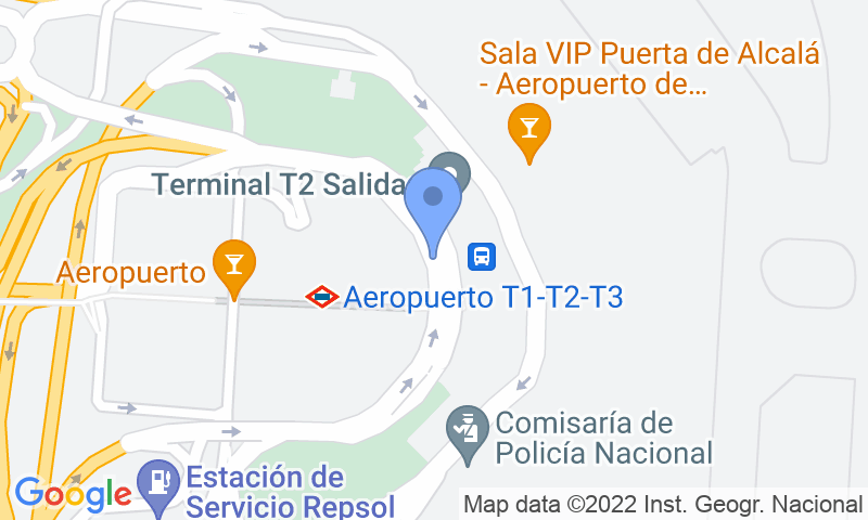 Parking location in the map - Book a parking spot in Drivercar-Valet-T2 Aeropuerto Barajas car park