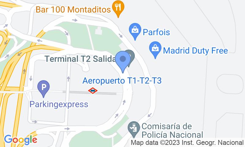 Localizzazione del parcheggio sulla mappa - Prenota un posto nel parcheggio GoldPark VIP-T2