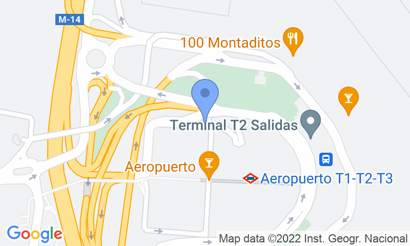 Localización del parking en el mapa - Reservar una plaza en el parking AENA General P2 (T2-T3) Madrid