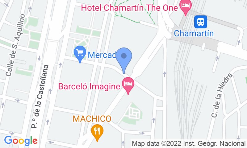 Parking location in the map - Book a parking spot in Chamartín - Centro Norte - Multi Pass car park