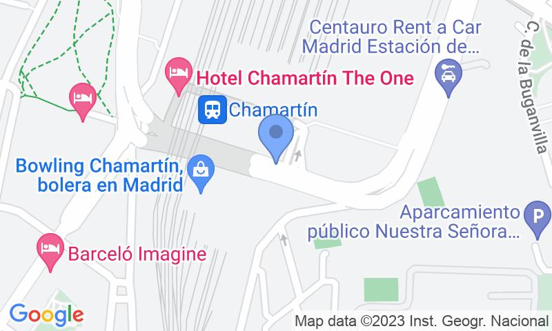 Standort des Parkplatzes auf der Karte - Buch einen Parkplatz im A.Park Estación de Chamartín - Valet Parkplatz.