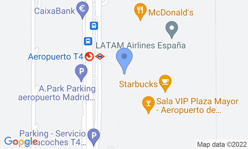 Parking location in the map - Book a parking spot in Park Sansecar - T4 Aeropuerto Barajas VALET Descubierto car park