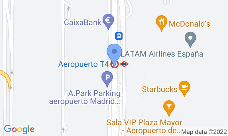 Parking location in the map - Book a parking spot in Barajas-T4 Exterior - Viparking car park