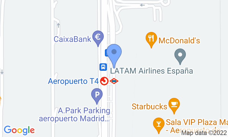 Parking location in the map - Book a parking spot in Drivercar-Valet-T4 Aeropuerto Barajas car park