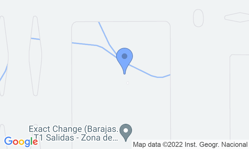 Parking location in the map - Book a parking spot in Parking 10-Valet-Aeropuerto Barajas car park