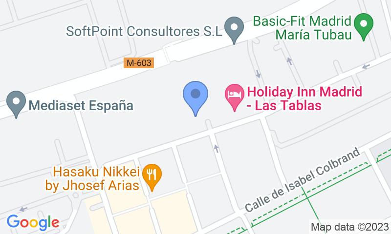 Localización del parking en el mapa - Reservar una plaza en el parking Homely - Fuencarral