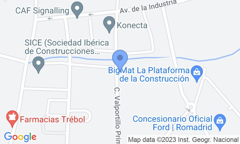 Localizzazione del parcheggio sulla mappa - Prenota un posto nel parcheggio Valportillo