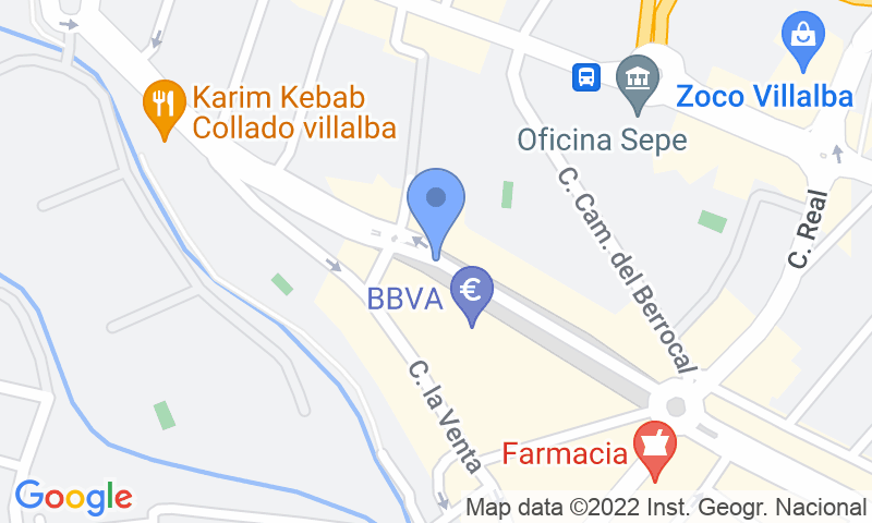 Localizzazione del parcheggio sulla mappa - Prenota un posto nel parcheggio Biblioteca Villalba
