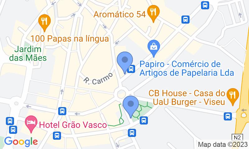 Localización del parking en el mapa - Reservar una plaza en el parking SABA Parque Santa Cristina