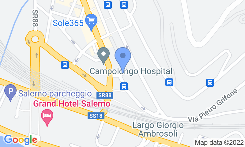 Parking location in the map - Book a parking spot in Easy Parking VALLET Salerno car park