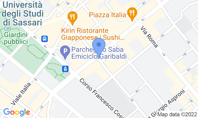 Parking location in the map - Book a parking spot in Saba Sassari Piazza Fiume car park