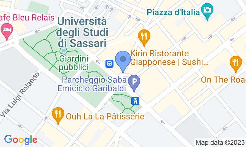 Localización del parking en el mapa - Reservar una plaza en el parking Saba Sassari Emiciclo Garibaldi
