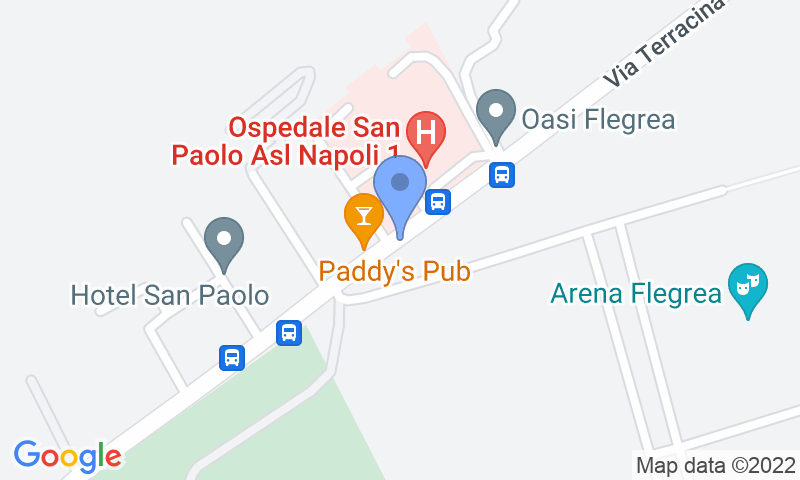 Emplacement du parking sur la carte - Réservez une place dans le parking Quick Mostra d'Oltremare - Terracina Napoli