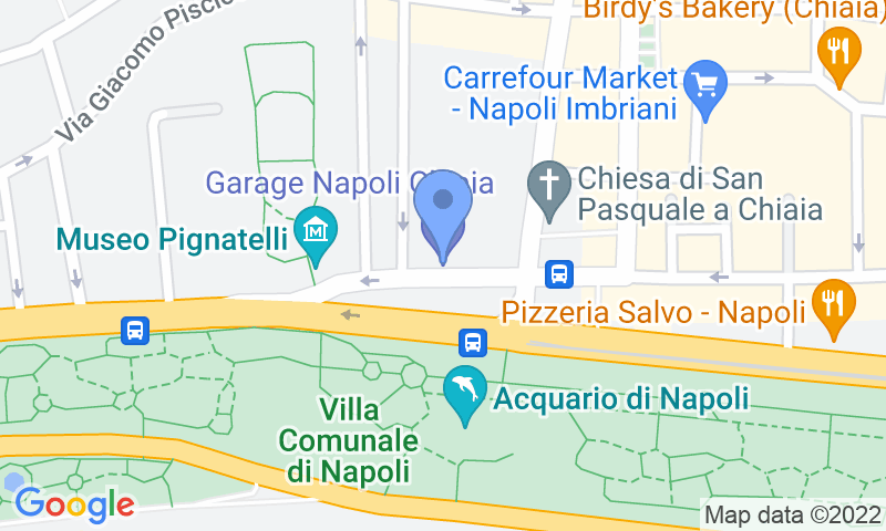Parking location in the map - Garage Napoli Chiaia