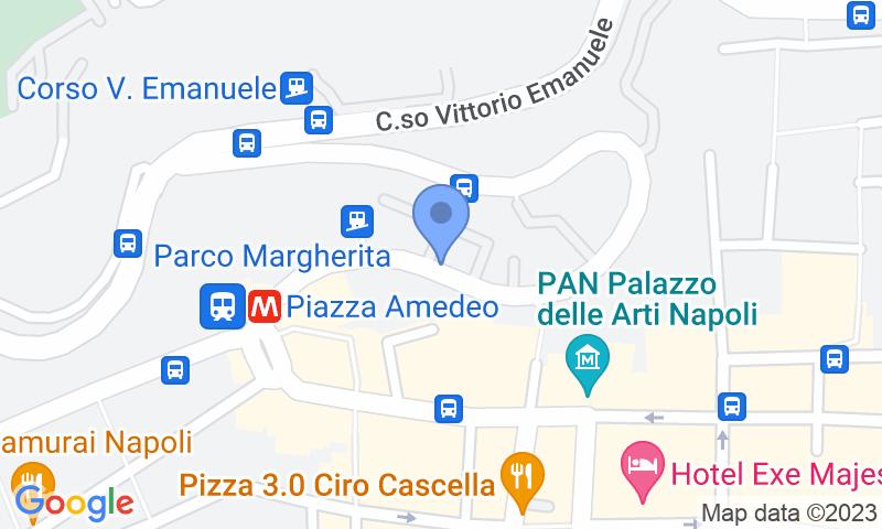 Localización del parking en el mapa - Reservar una plaza en el parking Autorimessa  Travaglione