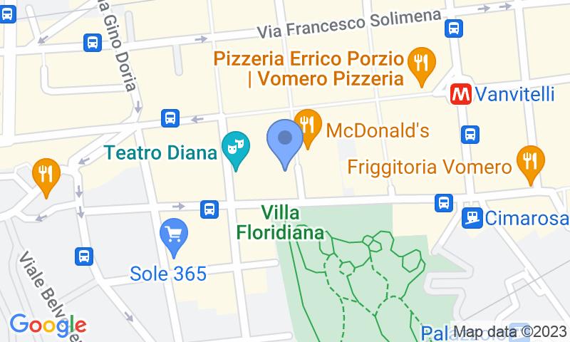 Parking location in the map - Autorimessa Merliani