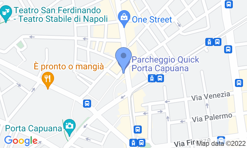 Parking location in the map - Book a parking spot in Quick Porta Capuana Napoli car park