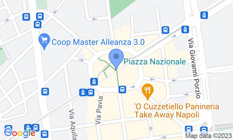 Localización del parking en el mapa - Reservar una plaza en el parking Quick Stazione Centrale Napoli