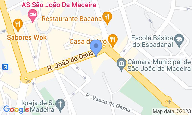 Parking location in the map - Book a parking spot in SABA Parque João de Deus car park