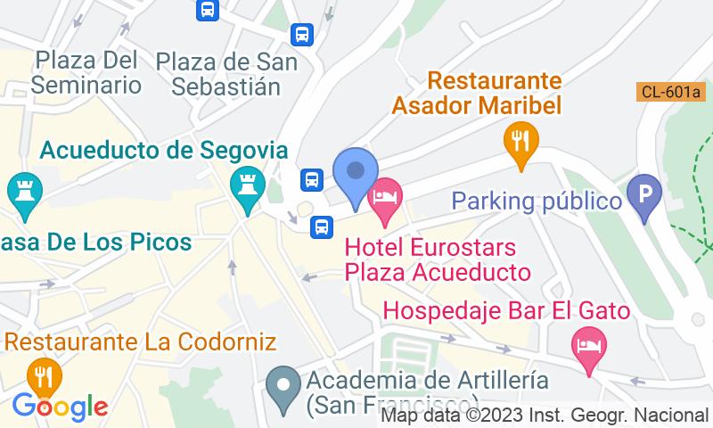 Localizzazione del parcheggio sulla mappa - Prenota un posto nel parcheggio IC - Acueducto Oriental