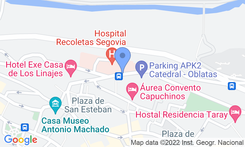 Parking location in the map - Book a parking spot in APK2 Catedral de Oblatas car park