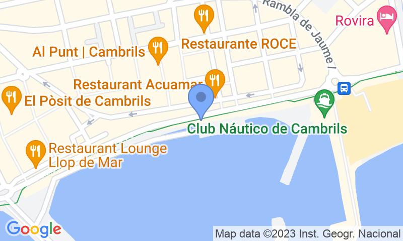 Localizzazione del parcheggio sulla mappa - Prenota un posto nel parcheggio SABA Port de Cambrils