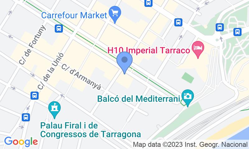 Standort des Parkplatzes auf der Karte - Buch einen Parkplatz im Rambla Nova - Parking Balcó del Mediterrani Parkplatz.