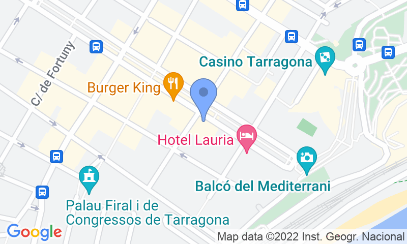 Localización del parking en el mapa - Reservar una plaza en el parking Rambla Nova - Parking Balcó del Mediterrani