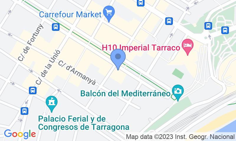Localizzazione del parcheggio sulla mappa - Prenota un posto nel parcheggio Rambla Nova - Parking Balcó del Mediterrani