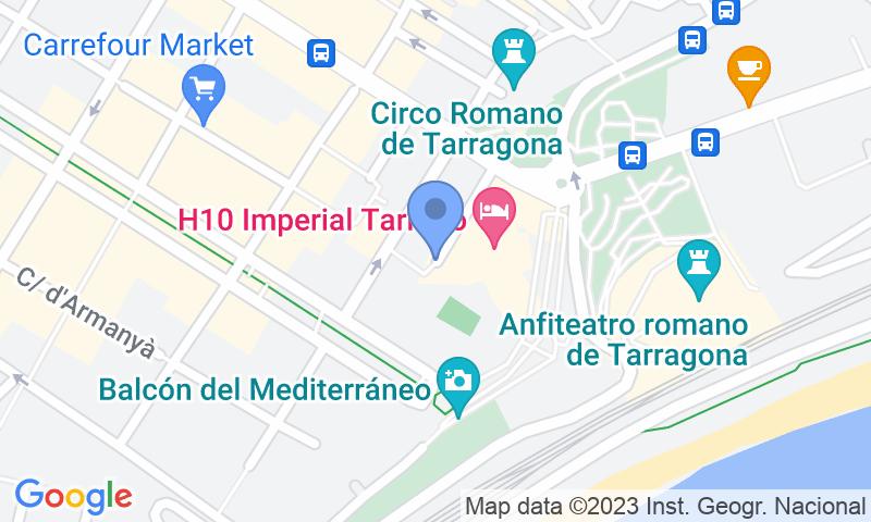Localización del parking en el mapa - Reservar una plaza en el parking Imperial Tarraco