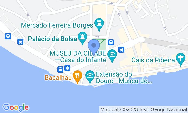 Localizzazione del parcheggio sulla mappa - Prenota un posto nel parcheggio SABA Parque da Ribeira - Praça do Infante