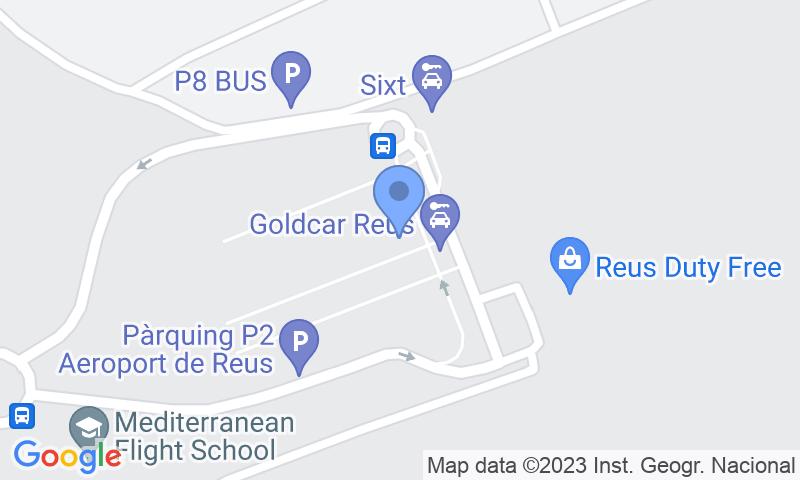 Localización del parking en el mapa - Reservar una plaza en el parking AENA General P2 Reus
